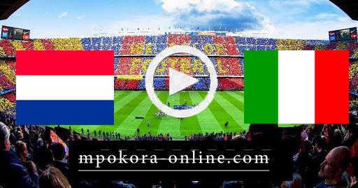 مشاهدة مباراة ايطاليا وهولندا بث مباشر كورة اون لاين 14-10-2020 دوري الأمم الأوروبية