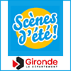 Logo Scène d'été, Conseil départemental de la Gironde