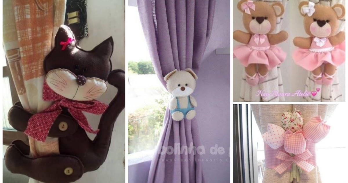 Moldes para hacer lindas sujeta cortinas en fieltro y - Hacer cortinas infantiles ...
