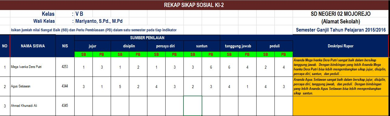 Aplikasi Excel Raport Rapor Ktsp Kurikulum 2013 Edisi