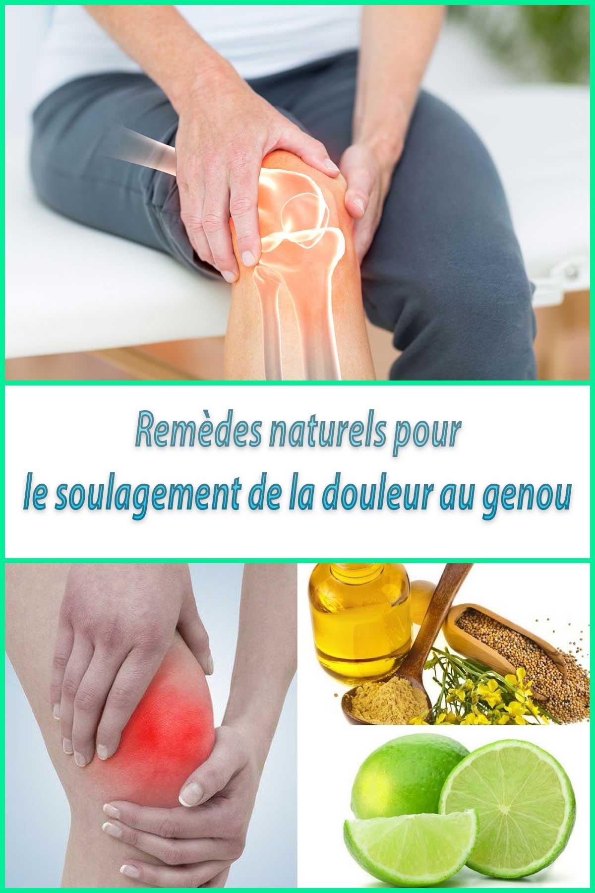 Remèdes naturels pour le soulagement de la douleur au genou