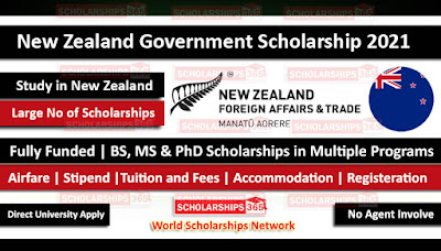 Image for New Zealand Government fully funded Scholarship 2020-2021