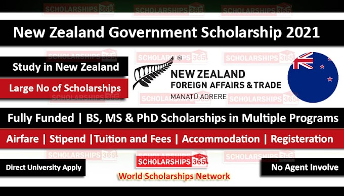 New Zealand Government Scholarship 2020-2021 - Fully Funded