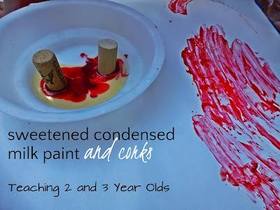 sweetened condensed milk paint
