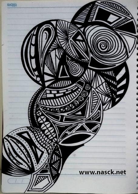 Arte Inspirada no Zentangle - ZIA