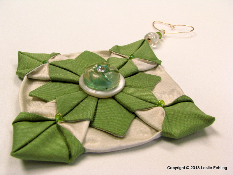 Everyday Artist: Fabric Origami - The Prettiest Ornaments ...