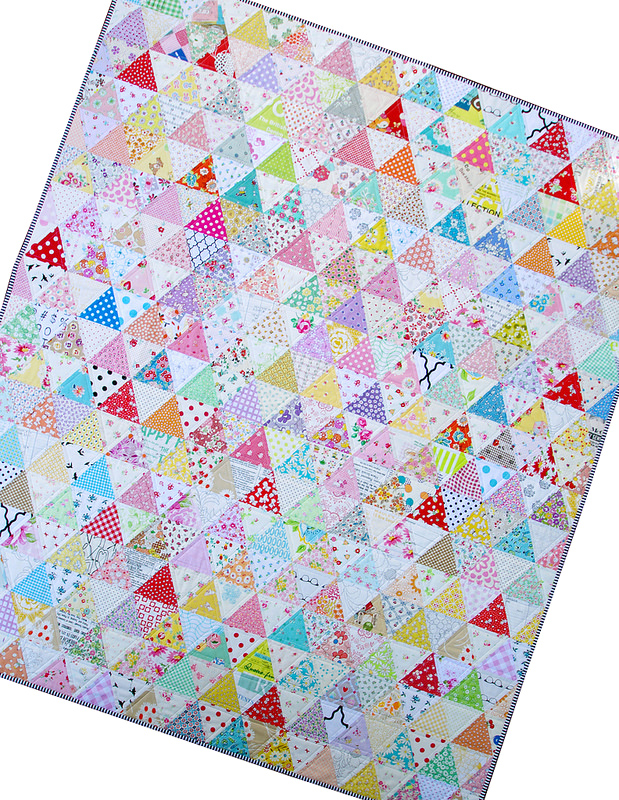 Equilateral Triangle Quilt by Red Pepper Quilts