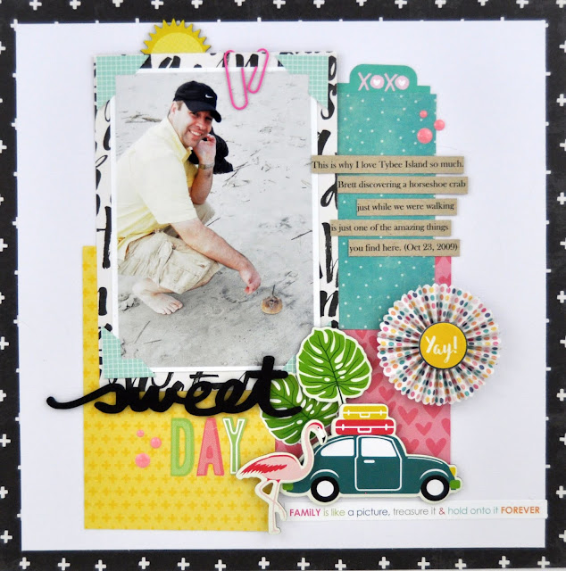How to use up paper scraps on a scrapbooking layout. Scrapbooking process video with Jen Gallacher. #scrapbooking #scrapbooklayout #jengallacher #jillibeansoup