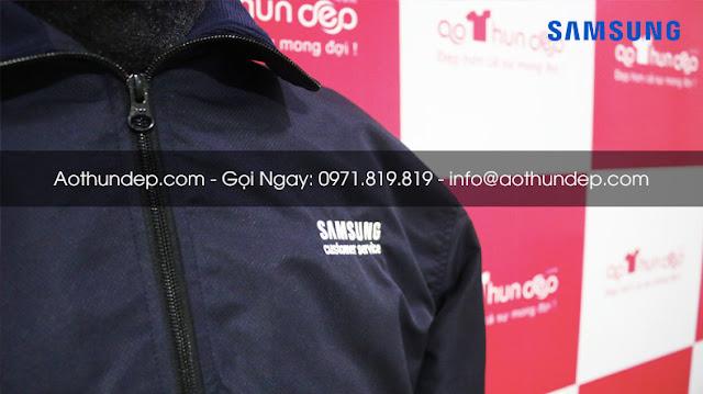 Thiết kế áo khoác samsung đơn giản, đẹp, bền