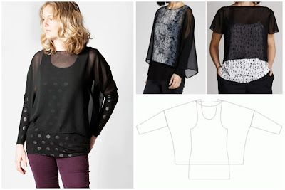 Creates Sew Slow: Sew Different Sheer Fly Birdie Fly Top