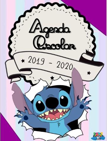 Agenda Escolar Editable Stitch