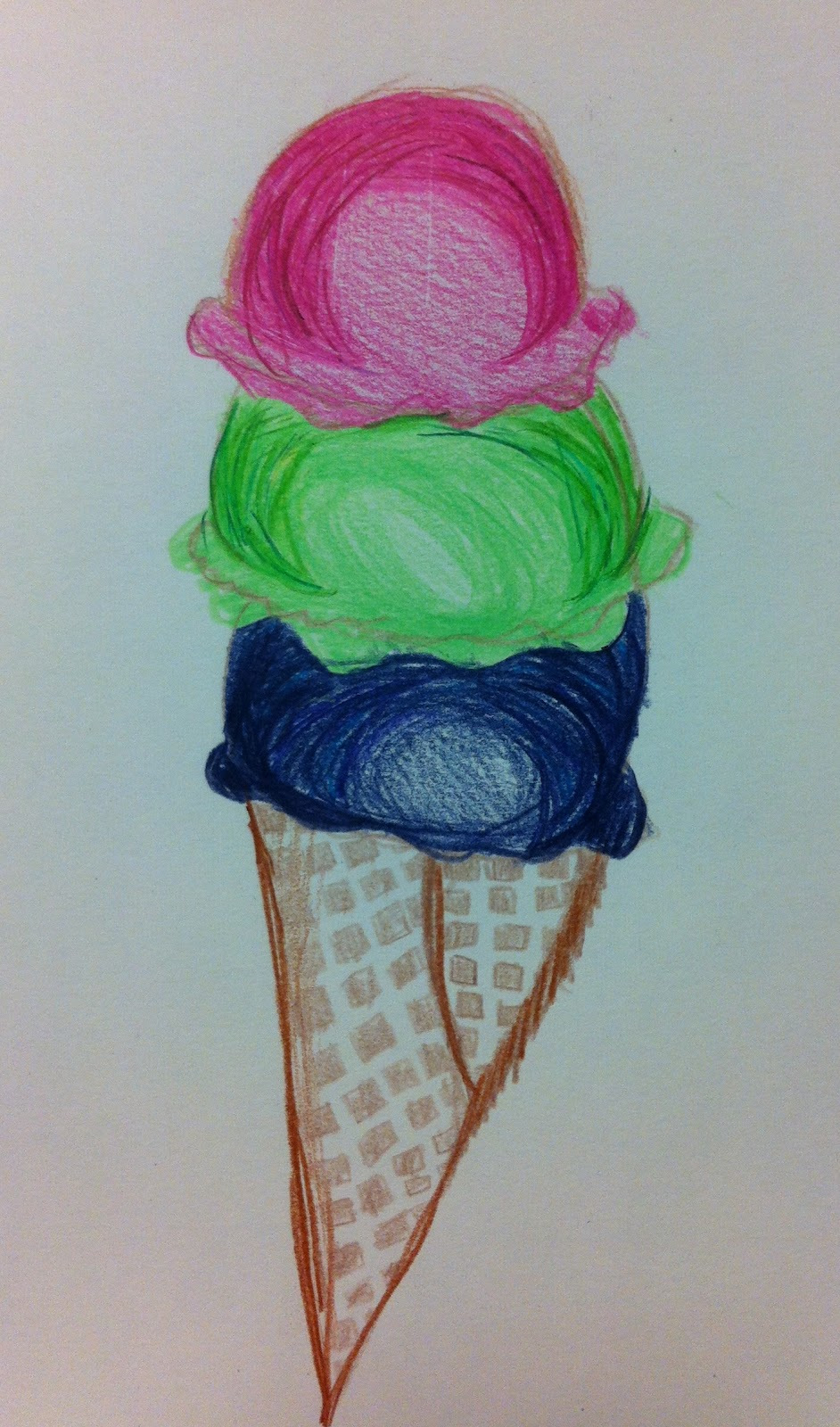 Angela Anderson Art Blog: Ice Cream Colored Pencil ...