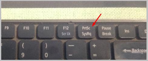 'PrtSc SysRq' button