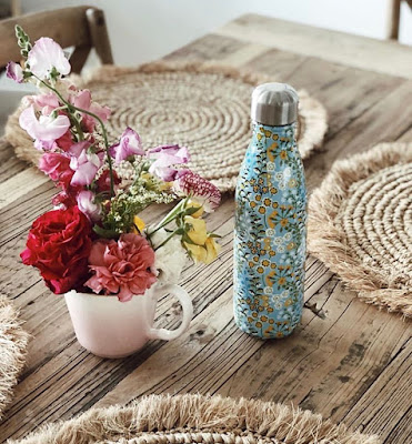 S'well water bottle liberty of london flowers