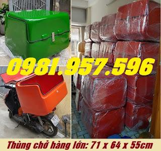 Thùng giao hàng sau xe máy, thùng giao hàng cho chuỗi hệ thống
