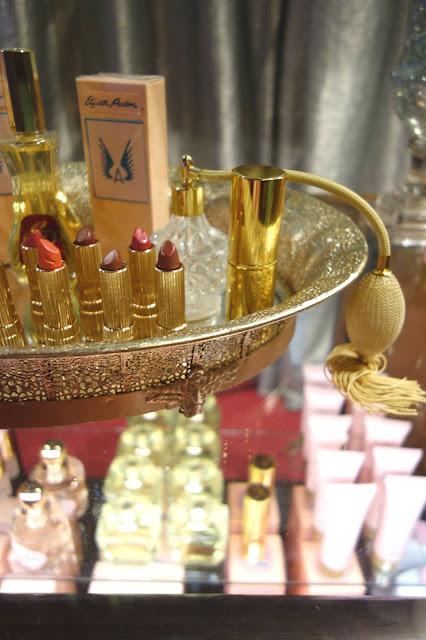 lipstick, perfume, props
