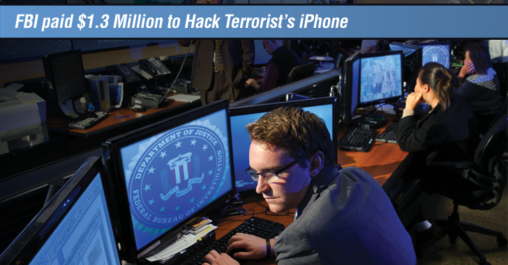 FBI paid Hacker $1.3 Million to Unlock San Bernardino Shooter's iPhone