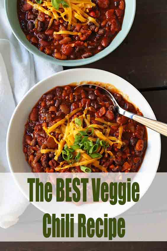 The BEST Veggie Chili Recipe