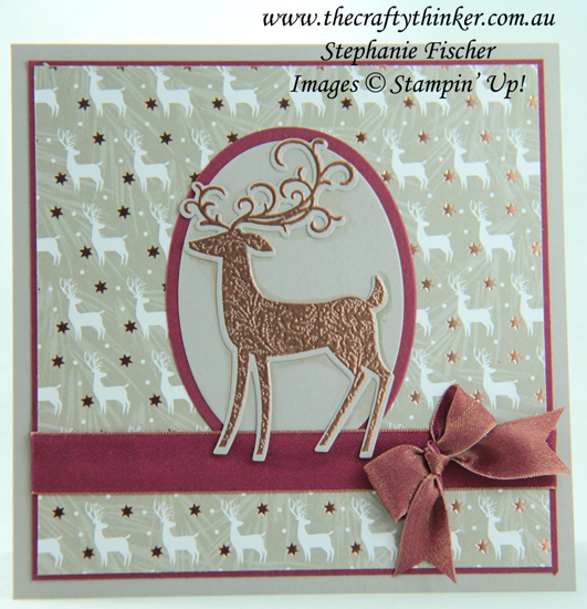 #thecraftythinker  #stampinup  #cardmaking  #rubberstamping  #christmascard  #xmascard  #dashingdeer , Christmas card, Xmas card, Dashing Deer bundle, Stampin' Up Australia Demonstrator, Stephanie Fischer, Sydney NSW