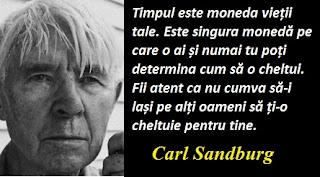 Maxima zilei: 6 ianuarie - Carl Sandburg