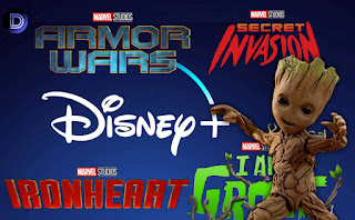 Disney+ Marvel New Projects The Guardians of the Galaxy Holiday Special, Armor Wars, Iron Heart,I am Groot and Secret Invasion