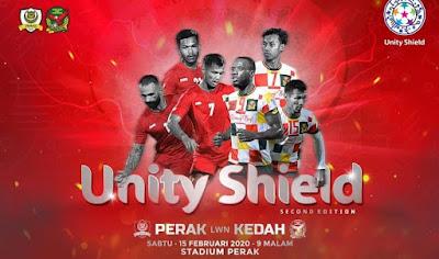 Live Streaming Kedah vs Perak Unity Shield 15.2.2020
