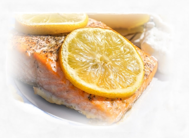 salmon glazed with marmalade