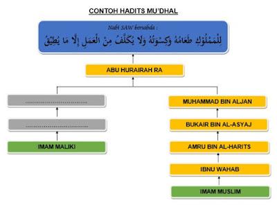 Contoh Hadits Mu'dhal