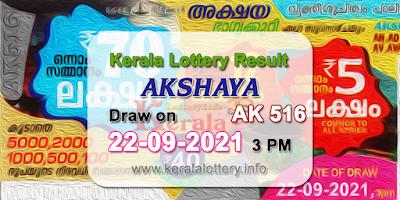 kerala-lottery-results-today-22-09-2021-akshaya-ak-516-result-keralalottery.info