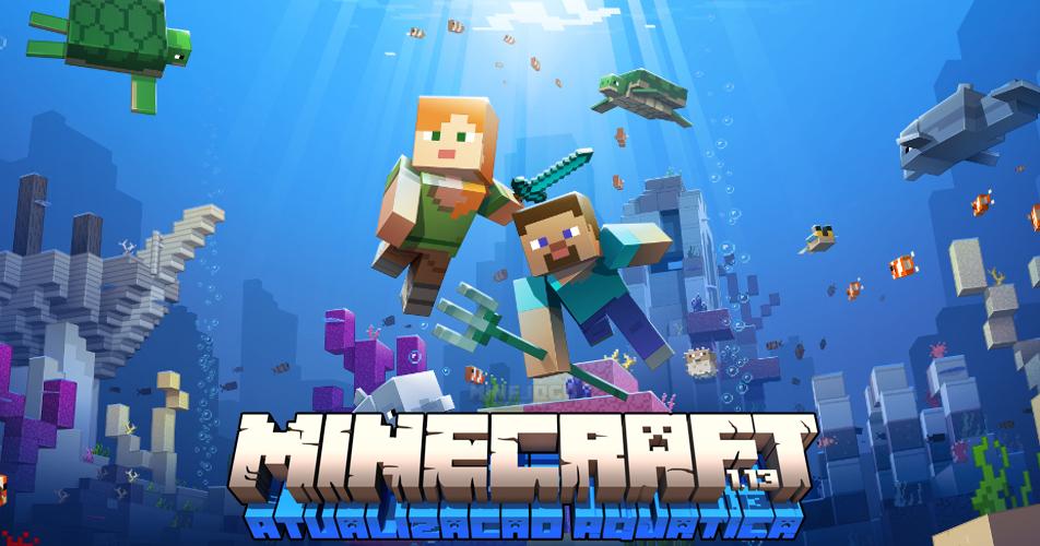 Minecraft 1 13: ATUALIZAÇÃO AQUÁTICA - Golfinhos, peixes, estruturas