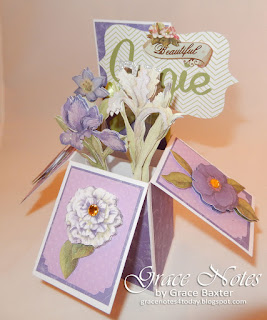 flower garden box card by Grace Baxter. Gracenotes4today.blogspot.com