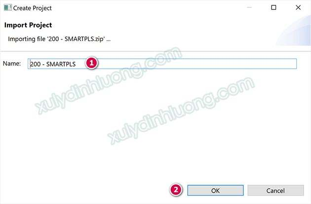 Mở và xuất file dữ liệu SMARTPLS