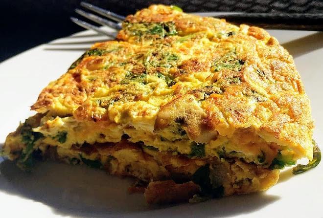 Tortilla, omelette plate à l'espagnole