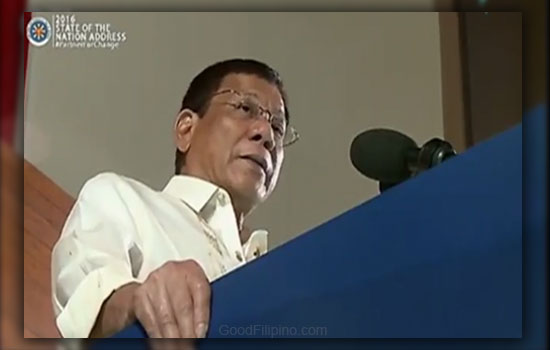 President Duterte - No stopping until last drug lord put in jail