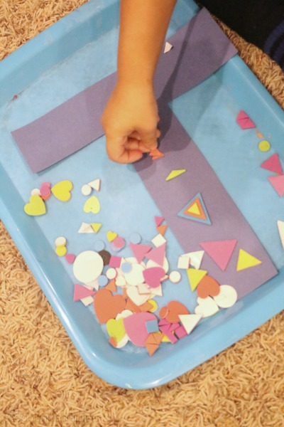 t is for triangles letter craft