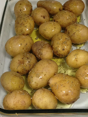 Patatas asadas al romero, preparación