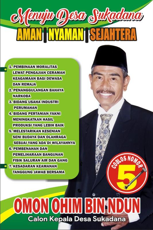 Download Contoh Banner Calon Kades Cdr Karyaku