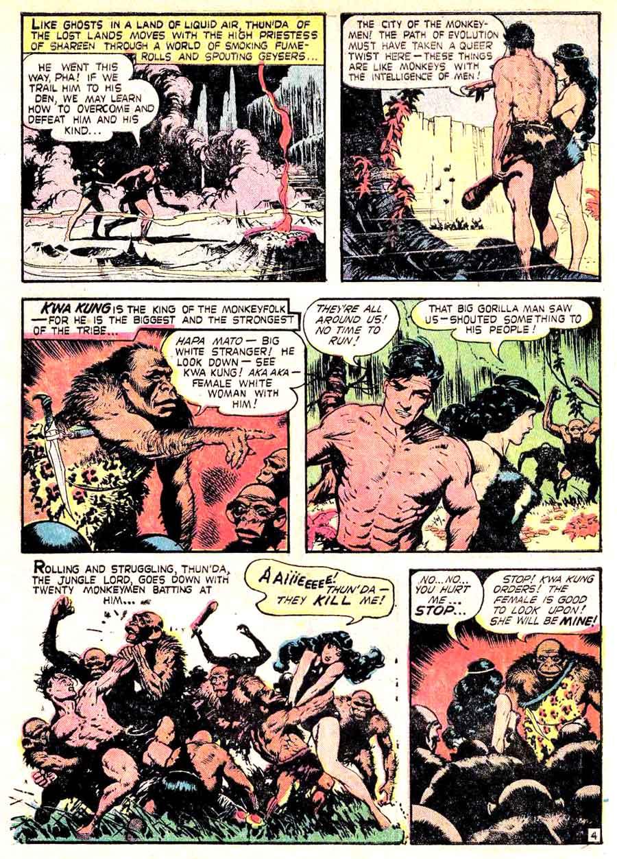 Thunda King of the Congo v1 #1 comic book page art by Frank Frazetta