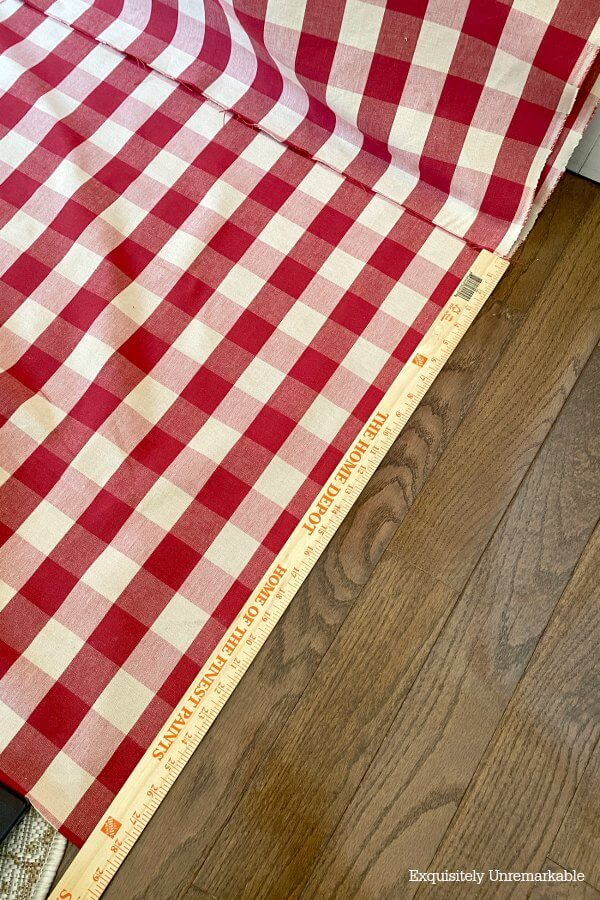 Measuring Long Curtain Panel fabric