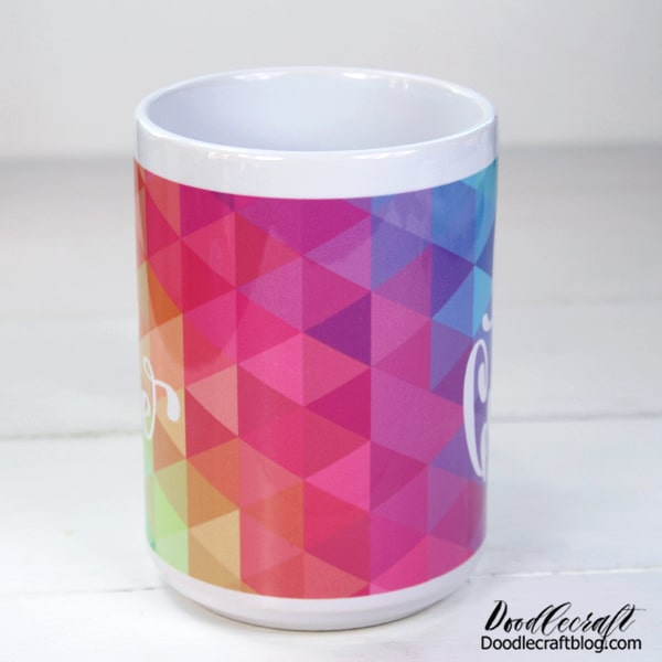 This sublimation mug is made from Cricut infusible ink in the kitchen oven. Great handmade gift idea!