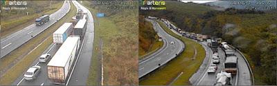 Acidente provoca congestionamento na BR-116 desde a madrugada desta quinta-feira