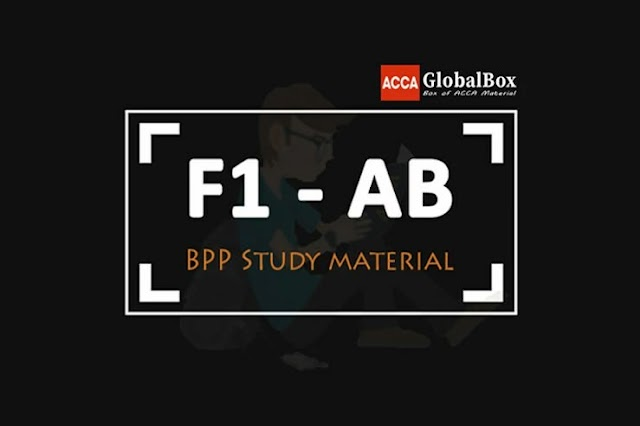 F1 - 2020 | Accountant in Business (AB)| BPP - STUDY TEXT and KIT