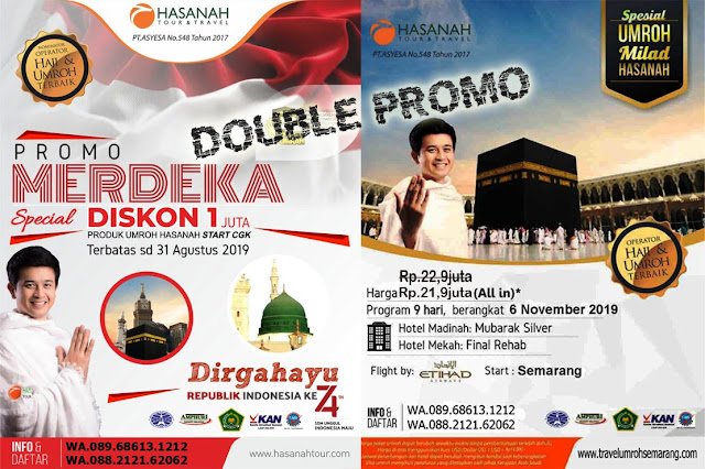 DOUBLE PROMO UMROH HASANAH 6 November 2019 | Start Semarang