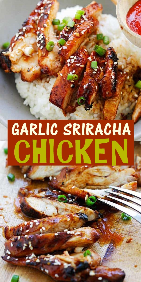 GARLIC SRIRACHA CHICKEN RECIPE #dinnerrecipes