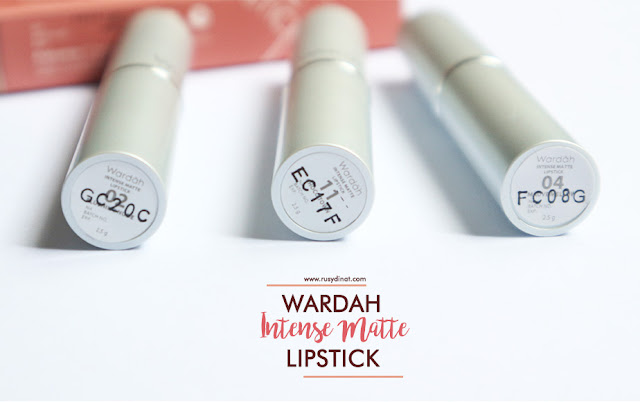 Blushing Nude, Mauve Mellow, Choco Town, Wardah Intense Matte Lipstick, Lipstick Matte, Wardah