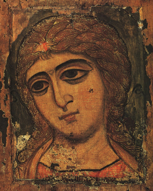 Antique Icon of the Archangel Gabriel