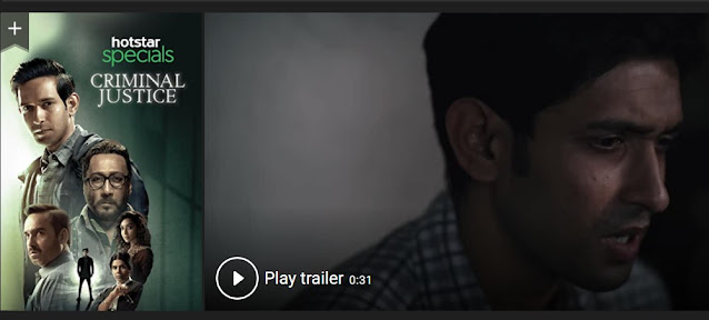 Play Criminal Justice (2019) indian Web Series Trailer online for free