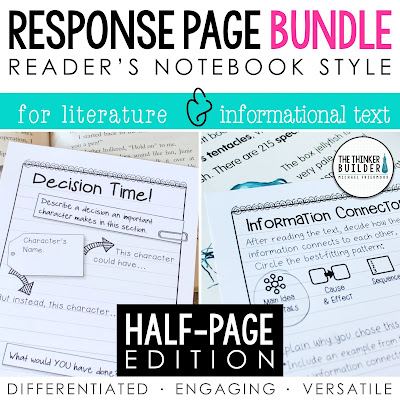 https://www.teacherspayteachers.com/Product/BUNDLE-Reading-Response-Pages-HALF-PAGE-SET-1065128?aref=681azw7t&utm_source=UES%20Cause%20Effect%20Post&utm_campaign=Response%20Page%20Bundle%20Half