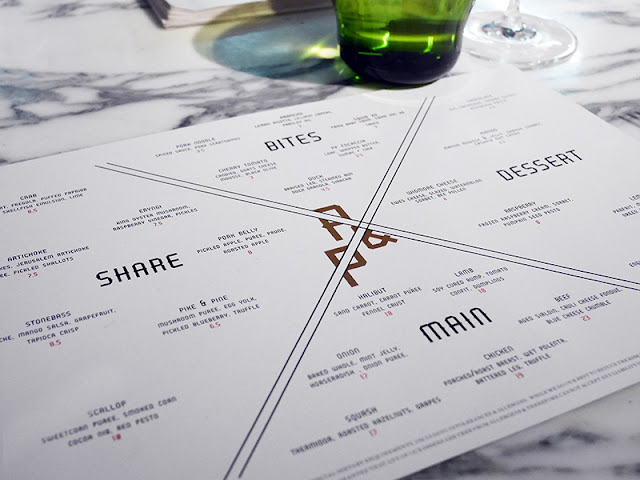 New menu design at Pike & Pine Brighton