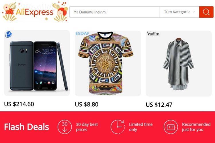 En Güvenilir Çin Alışveriş Siteleri - Aliexpress